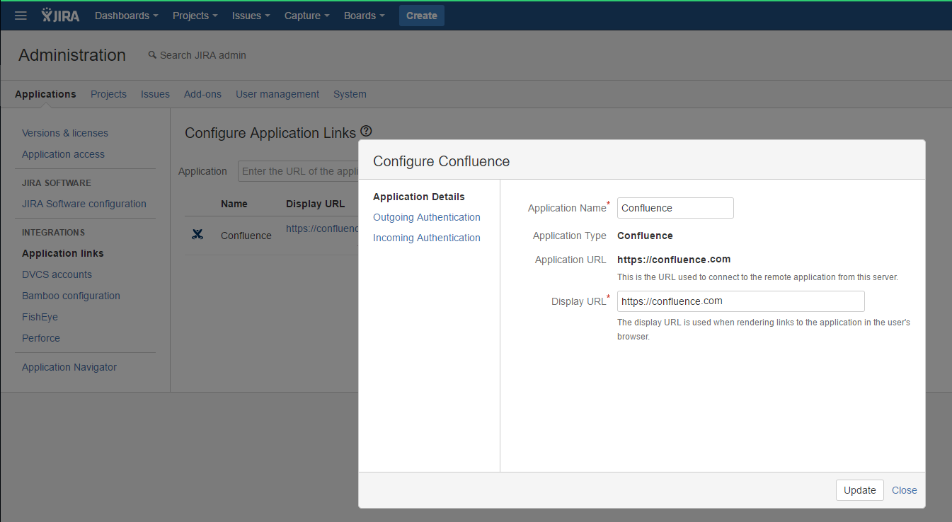 JIRA and Confluence integration, App links?