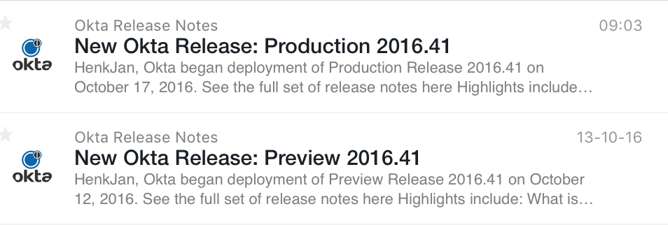 Double release note notifications