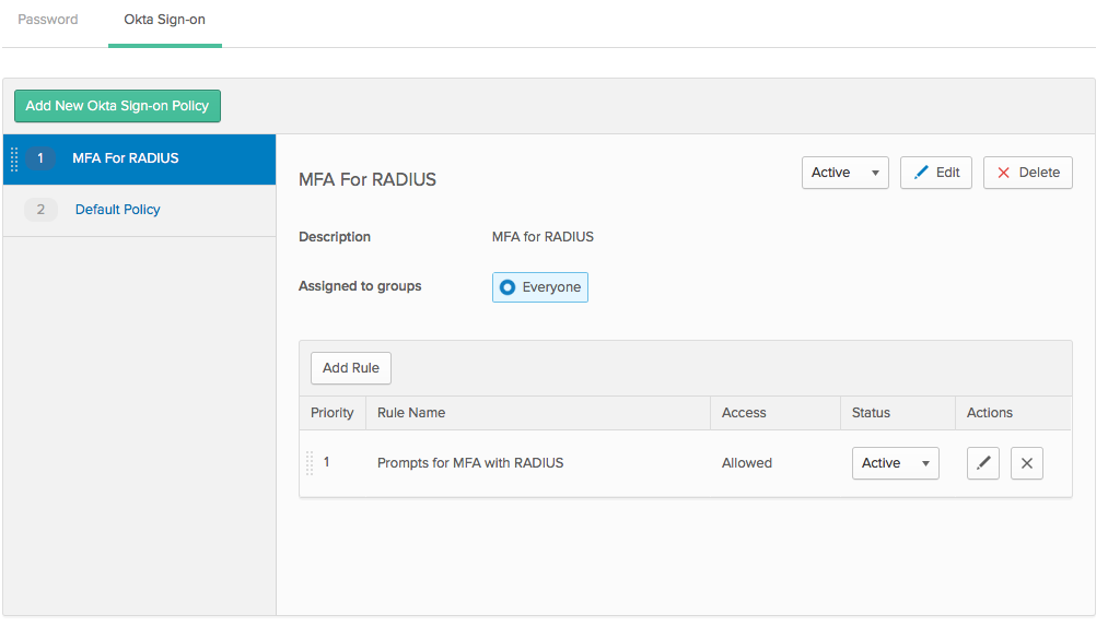 Installed RADIUS agent to use with our Cisco ASA  Need MFA